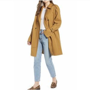 Something Navy Easy Oversized Trench Coat Tan